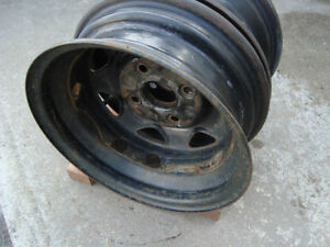 """2-Only Rims 4X114.3 (4-1/2"""") 13"""" Off a Swift/Geo Metro"""