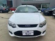 2013 Ford Falcon FG MkII XR6 Ute Super Cab Turbo White 6 Speed Manual Utility Ravenhall Melton Area Preview