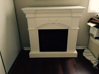 Twin Star Electric Fireplace and Mantle