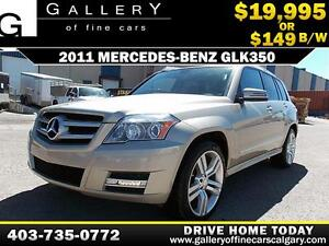 2011 Mercedes GLK350 4Matic $149 bi-weekly APPLY NOW DRIVE NOW