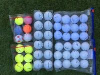 SECOND ROUND GOLF BALLS EXCELLENT CONDITION MANY DIFFERENT MAKES