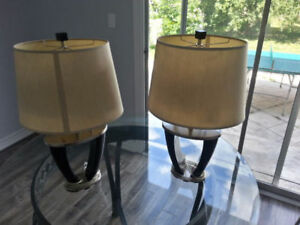 Stainless wooden lamps