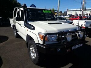 2012 Toyota Landcruiser VDJ79R MY13 GXL Double Cab White 5 Speed Manual Cab Chassis West Ballina Ballina Area Preview