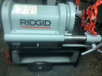 Ridgid 1224 Pipe Threader 12-4 Vg-excellent 2 Die Heads 711 714 To 6 W 161