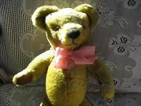 "17"" MERRYWEATHER ENGLISH MOHAIR JOINTED BEAR,LABEL,THEODORA"