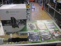 CONSOLE XBOX 360 SLIM NOIR 500GO LAST GEN + 6 JEUX POUR $169.95