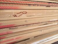 8ft x 6ft 22 & 25mm thick - Mixed MDF sheets - ideal for racking, shelving, cladding