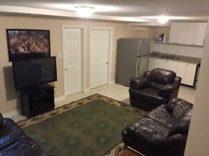 FULLY FURNISHED basement apartment for rent