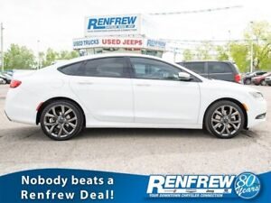 2015 Chrysler 200S AWD, Pano Sunroof, Nav, Cooled/Heated Leather