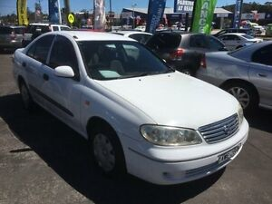 2004 Nissan Pulsar N16 MY04 ST White 4 Speed Automatic Sedan Cardiff Lake Macquarie Area Preview