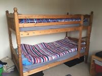 Wooden Bunk Bed with 2 mattress