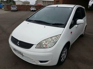 2008 Mitsubishi Colt RG MY07 ES White 5 Speed Manual Hatchback Georgetown Newcastle Area Preview