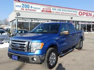 2009 Ford F-150 CREW CAB 4X4,1-OWNER,DEALER SERVICE,ONT TRUCK!!