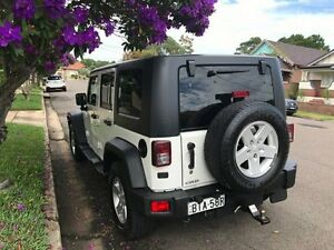 2008 Jeep Wrangler JK MY2008 Unlimited Sport White 5 Speed Automatic Softtop Croydon Burwood Area Preview
