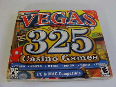 Vegas Jackpot Gold: 325 Casino Games PC CD-ROM Software PC & Mac Compatible Used