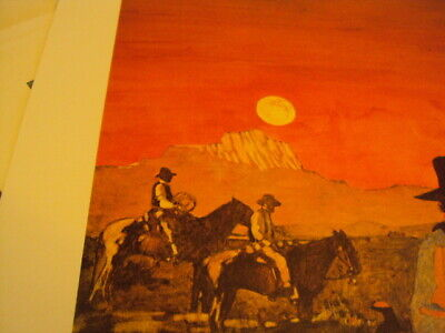 ARTIST SIGNED Lithograph Bart Forbes Art Print Days End Western Cowboy Scene - $16.00