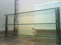tv stand large glass with 3 shelfs very strong 30,00,,,,,,,