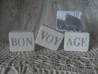 ,vintage,nostalgie,geschenk,landhaus♥HOLZWÜRFEL BON VOYAGE (Bon Voyage Dekorationen)