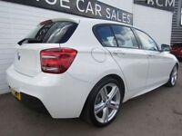 BMW 1 SERIES 2.0 125D M SPORT 5d AUTO 215 BHP (white) 2015