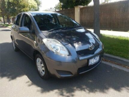 2009 Toyota Yaris NCP90R 08 Upgrade YR Grey 5 Speed Manual Hatchback Burwood Whitehorse Area Preview