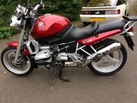 Lovely BMW R850R. 1998 in Mystic Red. 78000 miles