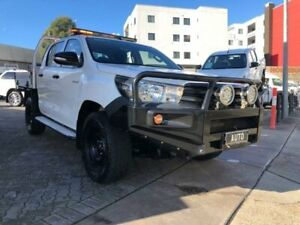 2016 Toyota Hilux GUN125R Workmate (4x4) White 6 Speed Automatic Dual Cab Utility North Strathfield Canada Bay Area Preview