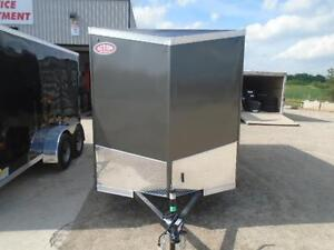 SALE PRICE ONLY - 2017 HAULIN 6X13 ENCLOSED TRAILER -SCREWLESS London Ontario image 2