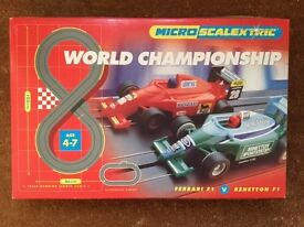 Micro Scalextric Set, World Championship, Figure-of-8, Barely Used