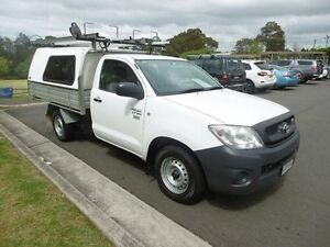 2010 Toyota Hilux TGN16R 09 Upgrade Workmate White 5 Speed Manual Cab Chassis Yagoona Bankstown Area Preview