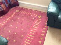 Pink carpet,natural wool,good for sitting room or bedroom