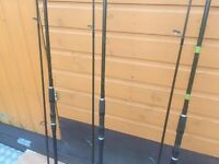 3 THREE ESP Tracer Carp Rods - 12ft Long 3.25 lbs - Lovely Condition Only £130
