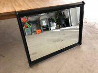 Laura Ashley black wooden wall mirror from Henshaw range