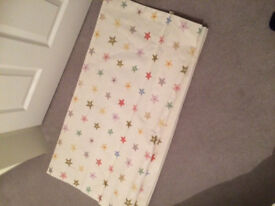 Baby/kids room roman blind, perfect condition, cream with coloured stars and glitter 98x140cm