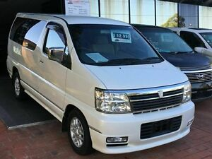 2001 Nissan Elgrand APE50 HWS White 4 Speed Automatic Wagon Taren Point Sutherland Area Preview