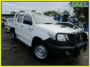 2015 Toyota Hilux KUN26R MY14 SR (4x4) White 5 Speed Automatic Double Cab Chassis Penrith Penrith Area Preview