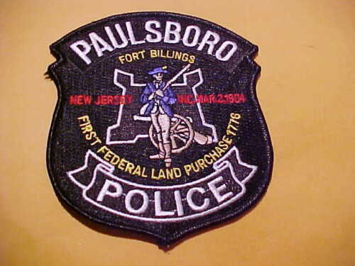 PAULSBORO NEW JERSEY POLICE PATCH SHOULDER SIZE UNUSED