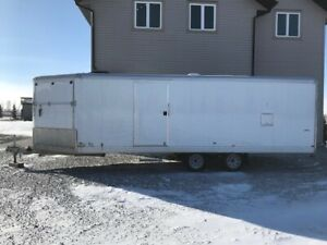 4 place 2012 Wells Cargo Enclosed Snowmobile Trailer