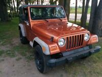 2001 Jeep TJ.. CERTIFIED and ETESTED!!! 4 cylinder , standard