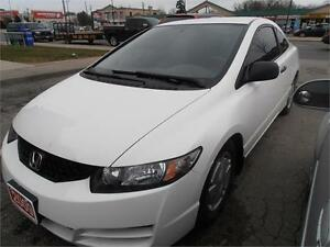 2009 Honda Civic DX-G Coupe Auto White Only 71,000km