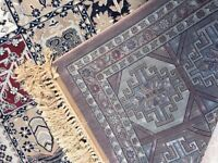 Oriental silk like rug