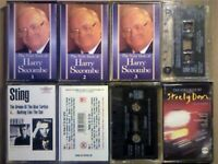 A-Z 3x HARRY SECOMBE SHAGGY 3x STING STEELY DAN PRERECORDED CASSETTE TAPES