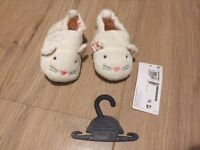 M&S Baby shoes/slippers (NEW) 12-18mo