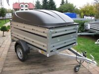 Brand new Brenderup 1205s car box trailer with double side and ABS lid