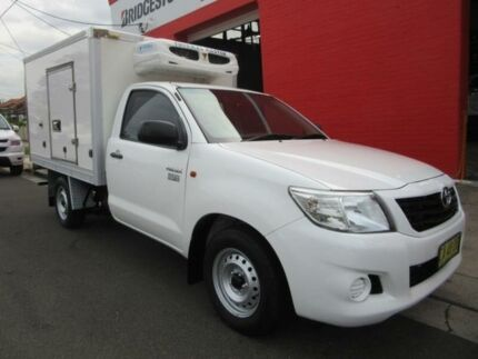 2014 Toyota Hilux TGN16R MY14 Workmate White 4 Speed Automatic 2D CAB CHASSIS Croydon Burwood Area Preview