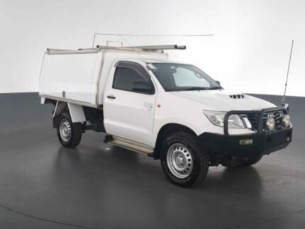 2014 Toyota Hilux KUN26R MY14 SR Glacier White Manual CAB CHASSIS SINGLE CAB Virginia Brisbane North East Preview