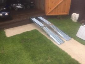 New Heavy Duty Folding Ramps 6ft Long Holds 400kg Great Grip Only £100