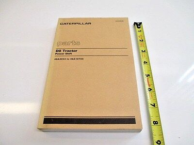 Caterpillar D8 Tractor Power Shift Parts Manual Heavy Equipment Construction