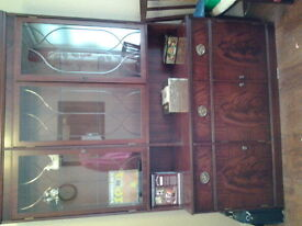Beresford and Hicks quality mahogany display cabinet. 4ft 6in wide x 6ft high.