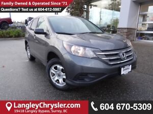 2013 Honda CR-V LX *ACCIDENT FREE*ONE OWNER*LOCAL BC SUV*