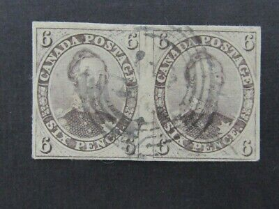 Nystamps Canada Stamp # 5 Used VF UN$4000 as 2 singles Rare Pair Signed u18yd